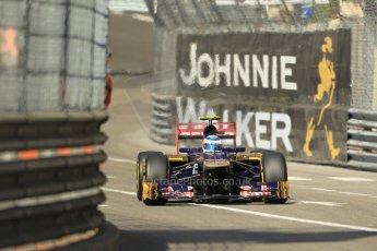 © Octane Photographic Ltd. 2012. F1 Monte Carlo - Practice 1. Thursday  24th May 2012. Jean-Eric Vergne - Toro Rosso. Digital Ref : 0350cb1d0097