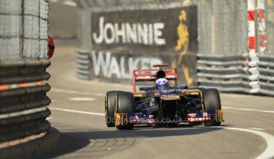 © Octane Photographic Ltd. 2012.  F1 Monte Carlo - Practice 1. Thursday  24th May 2012. Daniel Ricciardo - Toro Rosso. Digital Ref : 0350cb1d0107