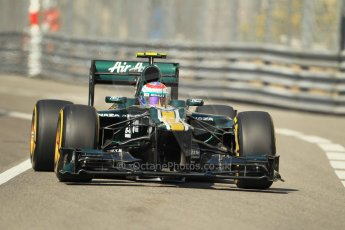 © Octane Photographic Ltd. 2012.  F1 Monte Carlo - Practice 1. Thursday  24th May 2012. Vitaly Petrov - Caterham. Digital Ref : 0350cb1d0201