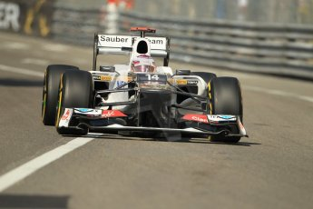 © Octane Photographic Ltd. 2012.  F1 Monte Carlo - Practice 1. Thursday  24th May 2012. Kamui Kobayashi - Sauber. Digital Ref : 0350cb1d0217