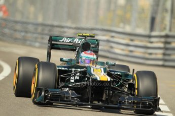 © Octane Photographic Ltd. 2012. F1 Monte Carlo - Practice 1. Thursday  24th May 2012. Vitaly Petrov - Caterham. Digital Ref : 0350cb1d0248