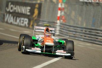 © Octane Photographic Ltd. 2012. F1 Monte Carlo - Practice 1. Thursday  24th May 2012. Nico Hulkenberg - Force India. Digital Ref : 0350cb1d0272