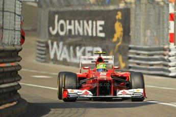 © Octane Photographic Ltd. 2012. F1 Monte Carlo - Practice 1. Thursday  24th May 2012. Felipe Massa - Ferrari. Digital Ref : 0350cb1d0335