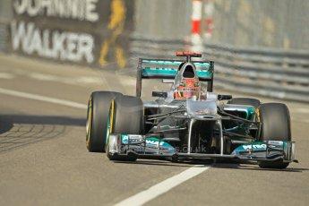 © Octane Photographic Ltd. 2012. F1 Monte Carlo - Practice 1. Thursday  24th May 2012. Michael Schumacher - Mercedes. Digital Ref : 0350cb1d0345
