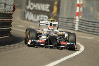 © Octane Photographic Ltd. 2012. F1 Monte Carlo - Practice 1. Thursday  24th May 2012. Sergio Perez - Sauber. Digital Ref : 0350cb1d0392