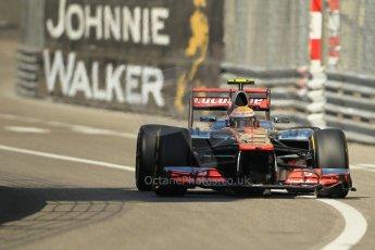 © Octane Photographic Ltd. 2012. F1 Monte Carlo - Practice 1. Thursday  24th May 2012. Lewis Hamilton - McLaren. Digital Ref : 0350cb1d0450