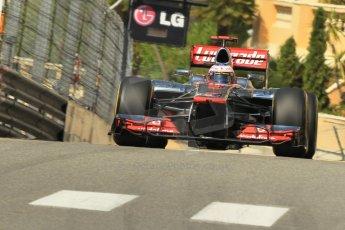 © Octane Photographic Ltd. 2012. F1 Monte Carlo - Practice 1. Thursday  24th May 2012. Jenson Button - McLaren. Digital Ref : 0350cb1d0462