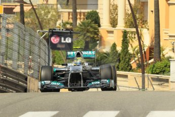 © Octane Photographic Ltd. 2012.F1 Monte Carlo - Practice 1. Thursday  24th May 2012. Nico Rosberg - Mrrcedes. Digital Ref : 0350cb1d0472