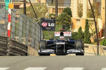 © Octane Photographic Ltd. 2012.  F1 Monte Carlo - Practice 1. Thursday  24th May 2012. Pastor Maldonado - Williams. Digital Ref : 0350cb1d0483