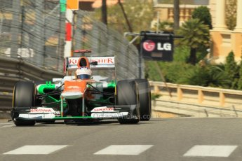 © Octane Photographic Ltd. 2012.  Monte Carlo - Practice 1. Thursday  24th May 2012. Paul di Resta - Force India. Digital Ref : 0350cb1d0487