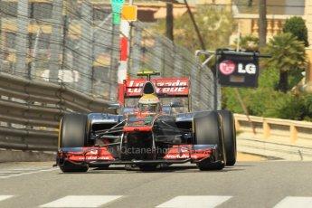 © Octane Photographic Ltd. 2012.  F1 Monte Carlo - Practice 1. Thursday  24th May 2012. Lewis Hamilton - McLaren. Digital Ref : 0350cb1d0491