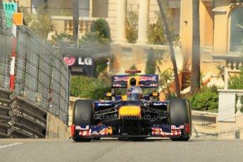 © Octane Photographic Ltd. 2012. F1 Monte Carlo - Practice 1. Thursday  24th May 2012. Sebastian Vettel - Red Bull. Digital Ref : 0350cb1d0521