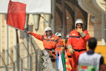 © Octane Photographic Ltd. 2012. F1 Monte Carlo - Practice 1. Thursday  24th May 2012. The session was red flagged following Heikki Kovalainen's engine blow up in the tunnel. Digital Ref : 0350cb1d0594