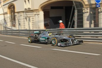 © Octane Photographic Ltd. 2012. F1 Monte Carlo - Practice 1. Thursday  24th May 2012. Nico Rosberg - Mercedes. Digital Ref : 0350cb7d7355