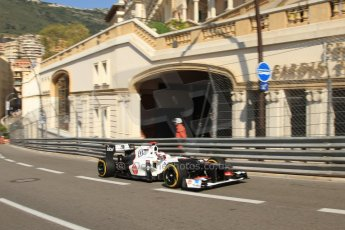 © Octane Photographic Ltd. 2012. F1 Monte Carlo - Practice 1. Thursday  24th May 2012. Kamui Kobayashi - Sauber. Digital Ref : 0350cb7d7371
