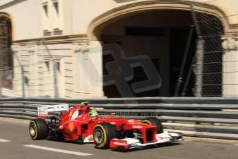 © Octane Photographic Ltd. 2012. F1 Monte Carlo - Practice 1. Thursday  24th May 2012. Felipe Massa - Ferrari. Digital Ref : 0350cb7d7414