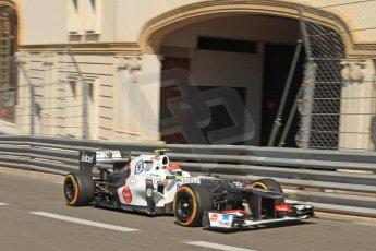 © Octane Photographic Ltd. 2012. F1 Monte Carlo - Practice 1. Thursday  24th May 2012. Sergio Perez - Sauber. Digital Ref : 0350cb7d7436