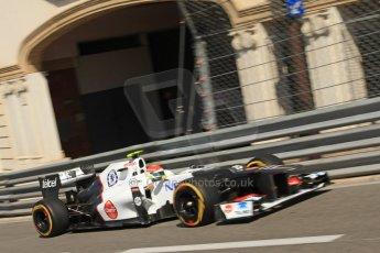 © Octane Photographic Ltd. 2012. F1 Monte Carlo - Practice 1. Thursday  24th May 2012. Sergio Perez - Sauber. Digital Ref : 0350cb7d7471