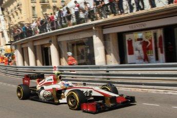 © Octane Photographic Ltd. 2012. F1 Monte Carlo - Practice 1. Thursday  24th May 2012. Narain Karthikeyan - HRT. Digital Ref : 0350cb7d7490