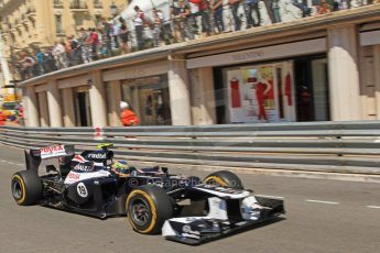 © Octane Photographic Ltd. 2012. F1 Monte Carlo - Practice 1. Thursday  24th May 2012. Bruno Senna - Williams. Digital Ref : 0350cb7d7493
