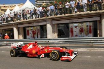 © Octane Photographic Ltd. 2012. F1 Monte Carlo - Practice 1. Thursday  24th May 2012. Fernando Alonso - Ferrari. Digital Ref : 0350cb7d7504