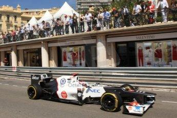 © Octane Photographic Ltd. 2012. F1 Monte Carlo - Practice 1. Thursday  24th May 2012. Kamui Kobayashi - Sauber. Digital Ref : 0350cb7d7552