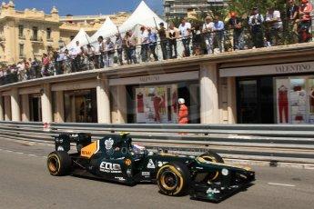 © Octane Photographic Ltd. 2012. F1 Monte Carlo - Practice 1. Thursday  24th May 2012. Vitaly Petrov - Caterham. Digital Ref : 0350cb7d7561
