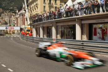 © Octane Photographic Ltd. 2012. F1 Monte Carlo - Practice 1. Thursday  24th May 2012. Paul di Resta - Force India. Digital Ref : 0350cb7d7590