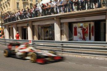 © Octane Photographic Ltd. 2012. F1 Monte Carlo - Practice 1. Thursday  24th May 2012. Pedro de la Rosa - HRT. Digital Ref : 0350cb7d7601