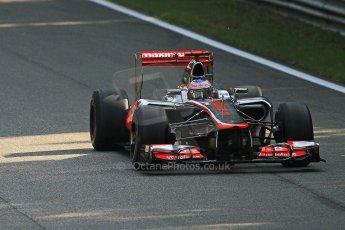 © 2012 Octane Photographic Ltd. Italian GP Monza - Friday 7th September 2012 - F1 Practice 1. McLaren MP4/27 - Jenson Button. Digital Ref : 0504cb7d1967