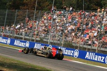 © 2012 Octane Photographic Ltd. Italian GP Monza - Friday 7th September 2012 - F1 Practice 1. Lotus E20 - Kimi Raikkonen. Digital Ref : 0505lw1d9257