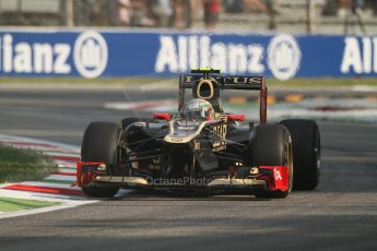 © 2012 Octane Photographic Ltd. Italian GP Monza - Friday 7th September 2012 - F1 Practice 1. Lotus E20 - Jerome d'Ambrosio. Digital Ref : 0505lw7d5333