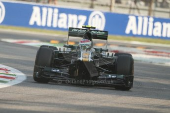 © 2012 Octane Photographic Ltd. Italian GP Monza - Friday 7th September 2012 - F1 Practice 1. Caterham CT01 - Vitaly Petrov. Digital Ref : 0505lw7d5353