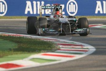 © 2012 Octane Photographic Ltd. Italian GP Monza - Friday 7th September 2012 - F1 Practice 1. Mercedes W03 - Michael Schumacher. Digital Ref : 0505lw7d5460