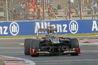 © 2012 Octane Photographic Ltd. Italian GP Monza - Friday 7th September 2012 - F1 Practice 1. Lotus E20 - Kimi Raikkonen. Digital Ref : 0505lw7d5518