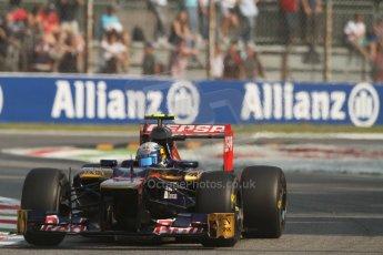 © 2012 Octane Photographic Ltd. Italian GP Monza - Friday 7th September 2012 - F1 Practice 1. Toro Rosso STR7 - Jean-Eric Vergne. Digital Ref : 0505lw7d5571