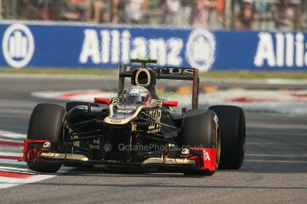 © 2012 Octane Photographic Ltd. Italian GP Monza - Friday 7th September 2012 - F1 Practice 1. Lotus E20 - Jerome d'Ambrosio. Digital Ref : 0505lw7d5791
