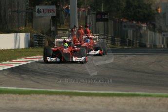 © 2012 Octane Photographic Ltd. Italian GP Monza - Saturday 8th September 2012 - F1 Practice 3. Ferrari F2012 - Felipe Massa and Fernando Alonso. Digital Ref : 0512lw1d1225