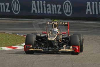 © 2012 Octane Photographic Ltd. Italian GP Monza - Saturday 8th September 2012 - F1 Practice 3. Lotus E20 - Jerome d'Ambrosio. Digital Ref :