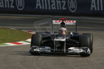 © 2012 Octane Photographic Ltd. Italian GP Monza - Saturday 8th September 2012 - F1 Practice 3. Williams FW34 - Pastor Maldonado. Digital Ref :