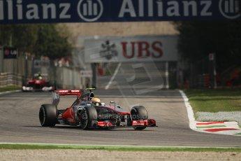 © 2012 Octane Photographic Ltd. Italian GP Monza - Saturday 8th September 2012 - F1 Practice 3. McLaren MP4/27 - Lewis Hamilton. Digital Ref : 0512lw7d7884