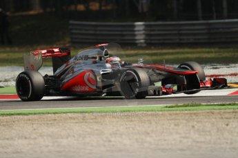 © 2012 Octane Photographic Ltd. Italian GP Monza - Saturday 8th September 2012 - F1 Practice 3. McLaren MP4/27 - Jenson Button. Digital Ref :