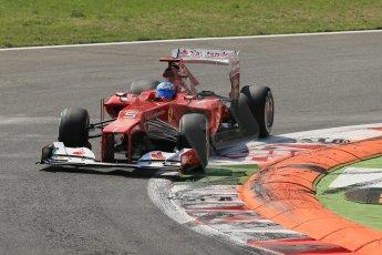 World © Octane Photographic Ltd. Formula 1 Italian GP, 9th September 2012.   Ferrari F2012 - Fernando Alonso. Digital Ref : 0518lw1d8889