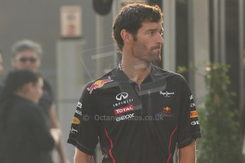 © 2012 Octane Photographic Ltd. Italian GP Monza - Saturday 8th September 2012 - F1 Paddock. Mark Webber - Red Bull Racing. Digital Ref :