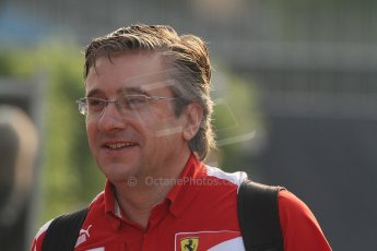 © 2012 Octane Photographic Ltd. Italian GP Monza - Saturday 8th September 2012 - F1 Paddock. Pat Fry - Ferrari. Digital Ref :