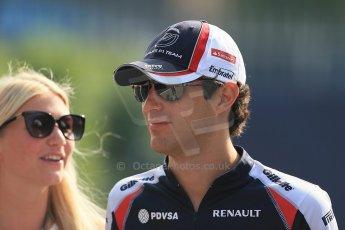 World © Octane Photographic Ltd. Formula 1 Italian GP, F1 Paddock. 9th September 2012 - Bruno Senna (Williams) with girlfriend Charlotte Evans. Digital Ref : 0517lw1d8822