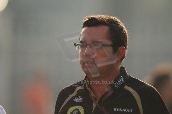 World © Octane Photographic Ltd. Formula 1 Italian GP, F1 Paddock. 9th September 2012. Eric Boullier - Lotus. Digital Ref : 0517lw7d8547