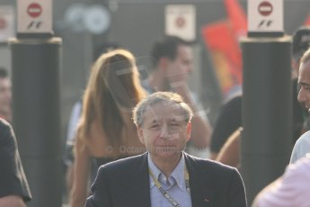 World © Octane Photographic Ltd. Formula 1 Italian GP, F1 Paddock. 9th September 2012. Jean Todt - Head of FIA. Digital Ref : 0517lw7d8649