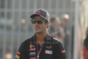World © Octane Photographic Ltd. Formula 1 Italian GP, F1 Paddock. 9th September 2012. Daniel Ricciardo - Toro Rosso. Digital Ref : 0517lw7d8678