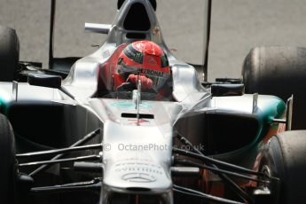© 2012 Octane Photographic Ltd. Italian GP Monza - Friday 7th September 2012 - F1 Practice 2. Mercedes W03 - Michael Schumacher. Digital Ref :